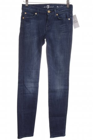 7 For All Mankind Tube Jeans dark blue simple style