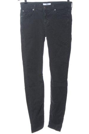 7 For All Mankind Jeans a sigaretta nero stile casual