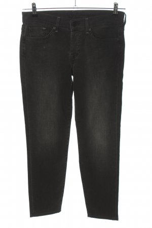 7 For All Mankind Röhrenjeans schwarz Casual-Look