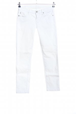 7 For All Mankind Jeans a sigaretta bianco stile casual