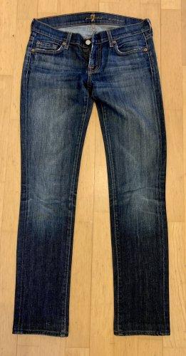 7 For All Mankind Dopasowane jeansy niebieski-stalowy niebieski