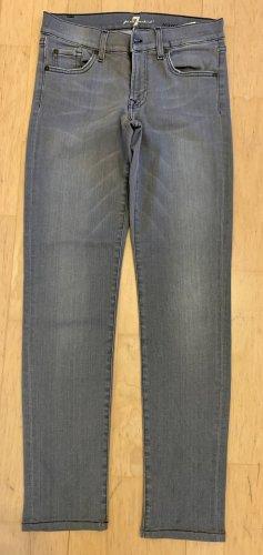7 For All Mankind Dopasowane jeansy szary
