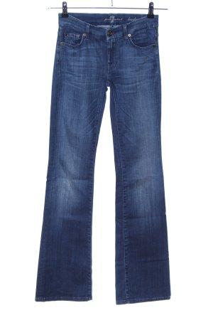 7 For All Mankind Pantalone a zampa d'elefante blu stile casual