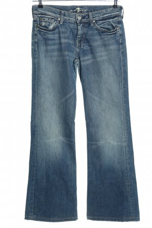 7 For All Mankind Schlaghose blau Casual-Look