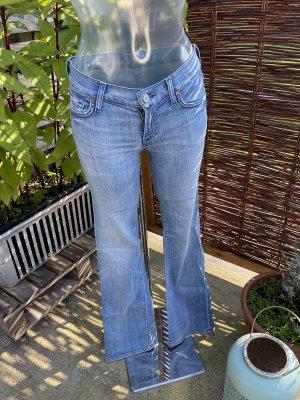 7 For All Mankind Jeans a zampa d'elefante multicolore
