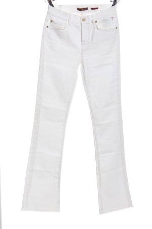 7 For All Mankind Pantalon pattes d'éléphant blanc tissu mixte