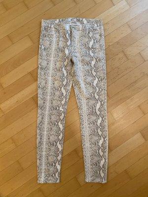 7 For All Mankind Pantalon en simili blanc cassé-crème