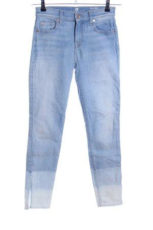7 For All Mankind Jeansy o obcisłym kroju niebieski Gradient W stylu casual