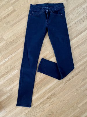 7 For All Mankind Skinny Jeans black-dark blue