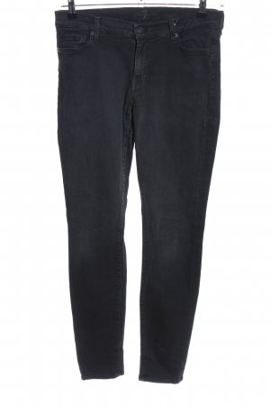 7 For All Mankind Jeans skinny noir style décontracté
