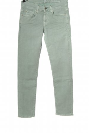 7 For All Mankind Skinny Jeans türkis Casual-Look