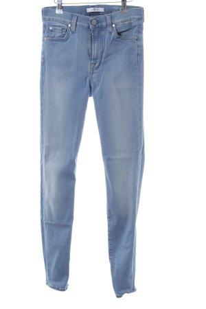 7 For All Mankind Skinny Jeans blau Farbverlauf Casual-Look