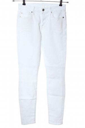 7 For All Mankind Jeans skinny bianco stile casual