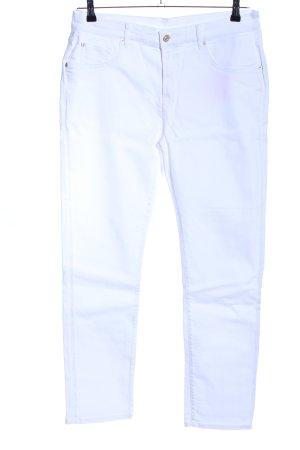 7 For All Mankind Jeansy o obcisłym kroju biały W stylu casual