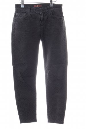7 For All Mankind Skinny Jeans hellgrau Allover-Druck Business-Look