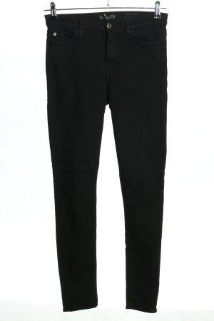 7 For All Mankind Jeansy o obcisłym kroju czarny W stylu casual