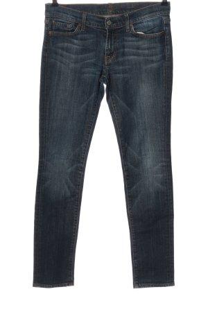7 For All Mankind Jeans skinny blu stile da moda di strada