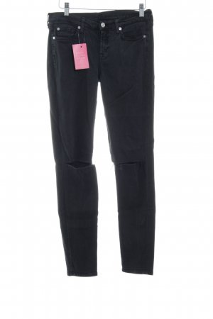 7 For All Mankind Skinny Jeans anthrazit Street-Fashion-Look