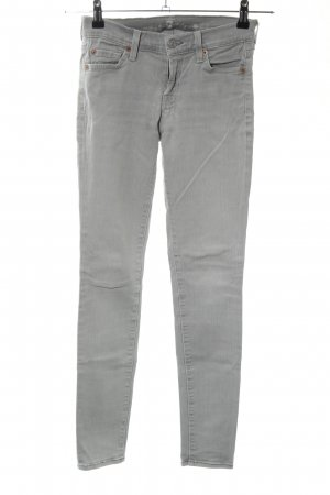 7 For All Mankind Skinny jeans lichtgrijs casual uitstraling