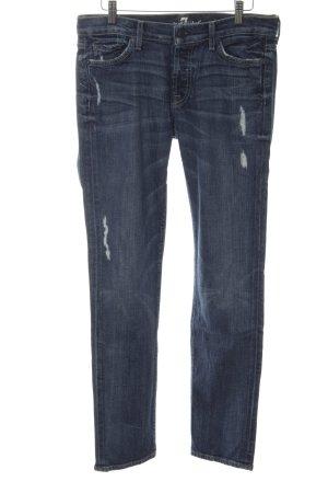 7 For All Mankind Skinny jeans blauw Katoen