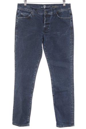 7 For All Mankind Skinny Jeans blau-stahlblau Casual-Look