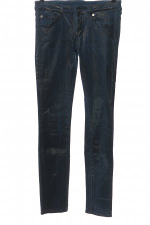 7 For All Mankind Skinny Jeans blau-schwarz Casual-Look