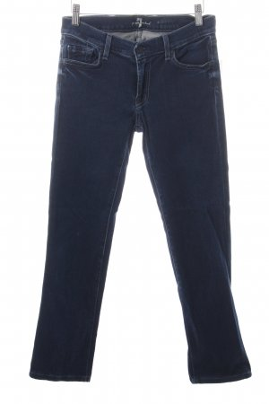 7 For All Mankind Skinny Jeans dark blue jeans look