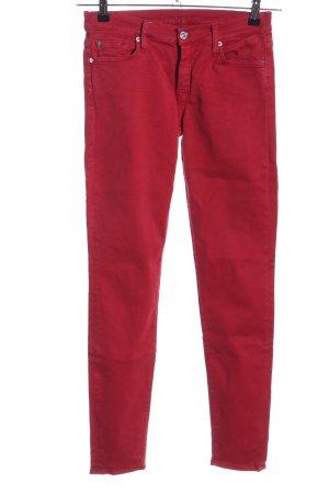 7 For All Mankind Jeansy o obcisłym kroju czerwony W stylu casual