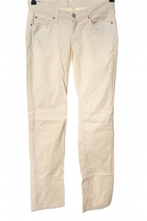 7 For All Mankind Skinny Jeans cream casual look