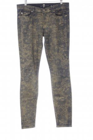 7 For All Mankind Skinny Jeans goldfarben-dunkelblau Casual-Look