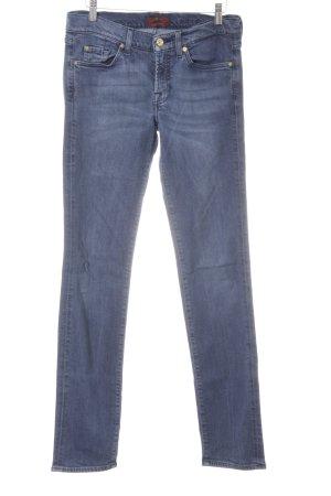 7 For All Mankind Skinny Jeans graublau schlichter Stil