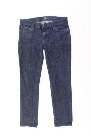 7 For All Mankind Jeans skinny bleu-bleu fluo-bleu foncé-bleu azur coton