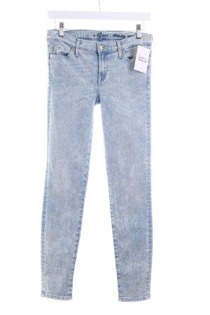 7 For All Mankind Skinny Jeans hellblau
