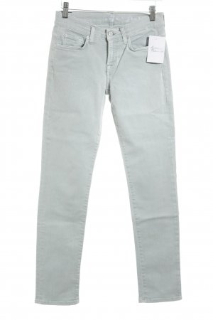 7 For All Mankind Skinny Jeans light blue Ornamental buttons