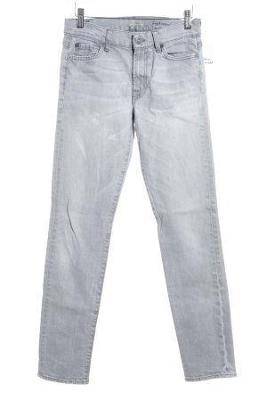7 For All Mankind Skinny Jeans hellgrau schlichter Stil