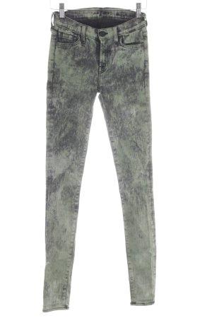 7 For All Mankind Skinny Jeans hellgrün-schwarz Farbverlauf Casual-Look