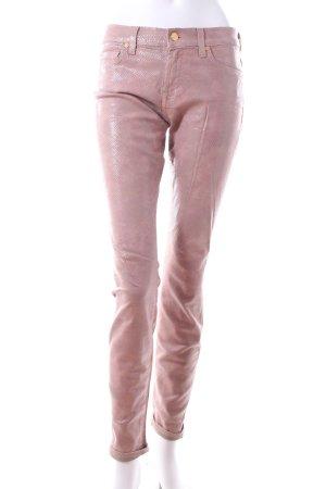 7 For All Mankind Jeansy o obcisłym kroju jasny różowy