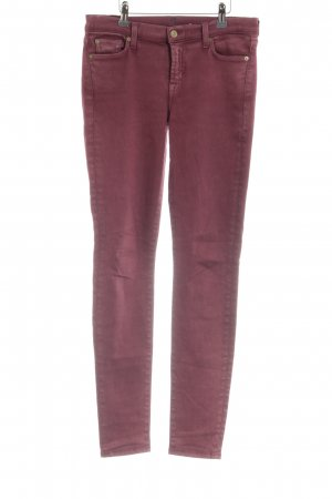 7 For All Mankind Skinny Jeans karminrot Casual-Look