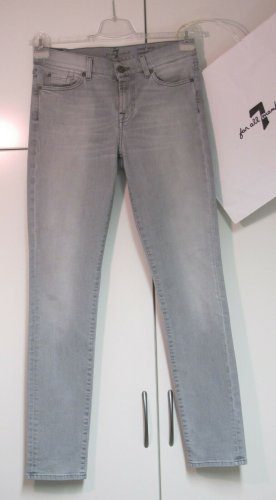 7 For All Mankind Skinny Jeans light grey cotton