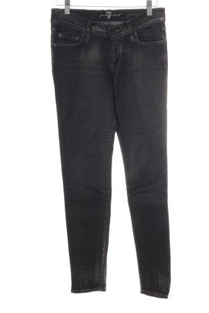 7 For All Mankind Skinny Jeans schwarz-grau Casual-Look