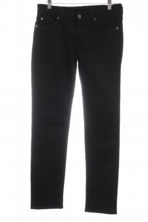7 For All Mankind Skinny Jeans schwarz Metallelemente