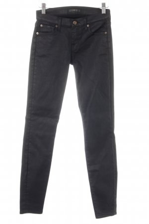 7 For All Mankind Skinny Jeans schwarz Street-Fashion-Look