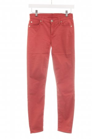 "7 For All Mankind Skinny Jeans ""The Skinny"" hellrot"