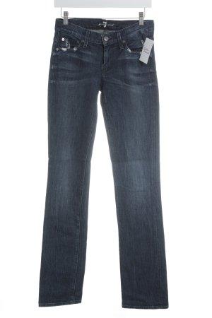 7 For All Mankind Skinny Jeans weiß-dunkelblau Jeans-Optik