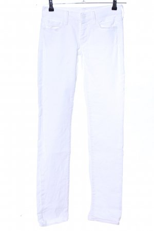 7 For All Mankind Slim Jeans weiß Casual-Look
