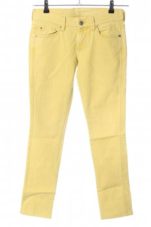 7 For All Mankind Jeans slim jaune primevère style décontracté