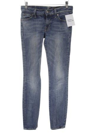 7 For All Mankind Slim Jeans blau Washed-Optik