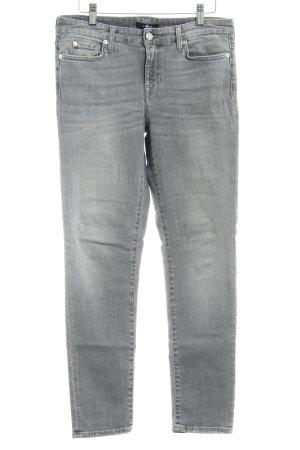 7 For All Mankind Dopasowane jeansy jasnoszary Metalowe elementy