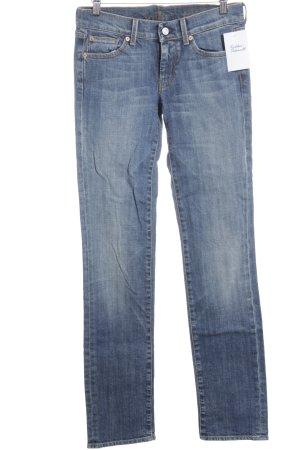 7 For All Mankind Slim Jeans kornblumenblau-stahlblau Casual-Look