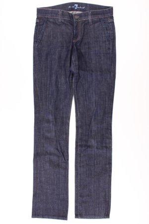 7 For All Mankind Straight Leg Jeans blue-neon blue-dark blue-azure cotton